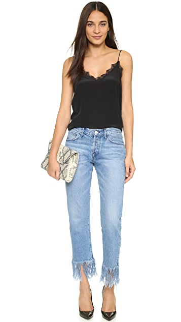 3x1 WM3 Straight Crop Fringe Jeans