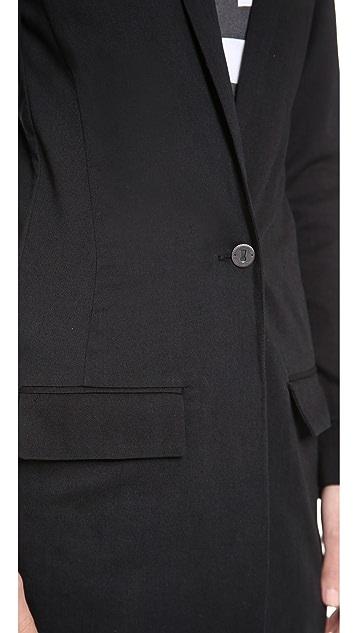THVM Behati Black Long Coat