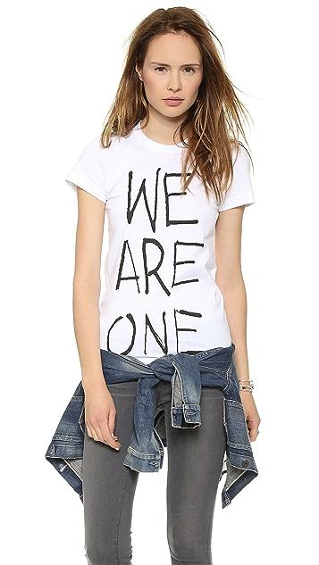 THVM Behati White We Are One Tee