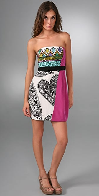 Tibi Maori Strapless Dress