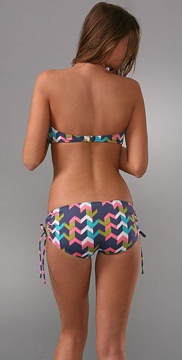 Tibi Chevron Ikat Bikini Top