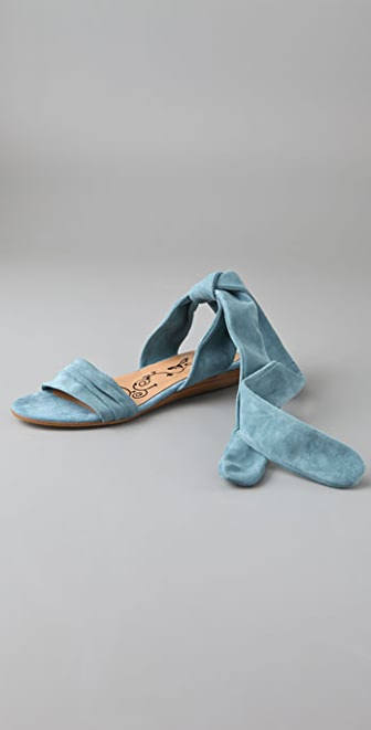Tibi Chelsea Flat Suede Sandals
