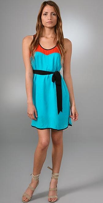 Tibi Colorblock Tank Dress