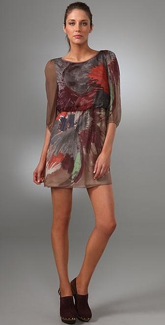 Tibi Viola 3/4 Sleeve Dress