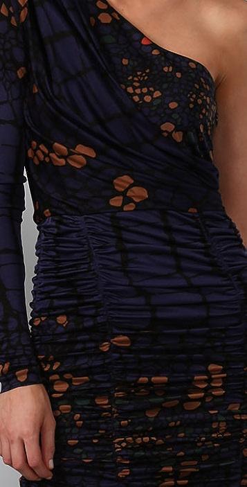 Tibi Alligator Lace Mini Dress