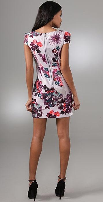 Tibi Madeline Cap Sleeve Dress