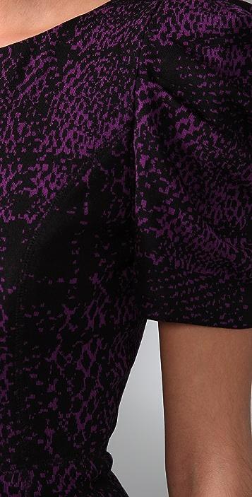 Tibi Fitted Animal Print Dress
