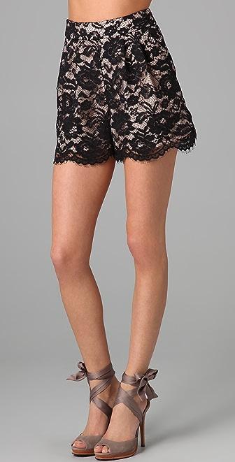 Tibi Lace Shorts