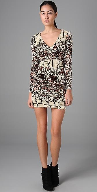 Tibi Ruched Long Sleeve Dress