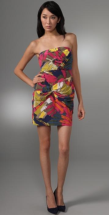 Tibi Sergenti Strapless Dress