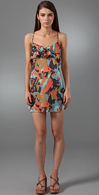 Tibi Pressed Flowers Cover Up Dress