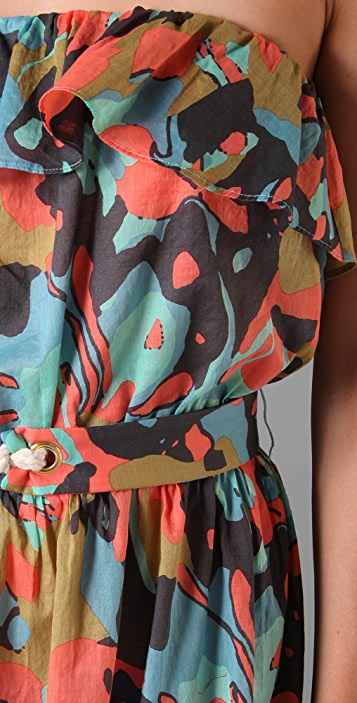 Tibi Pressed Flowers Cover Up Long Dress