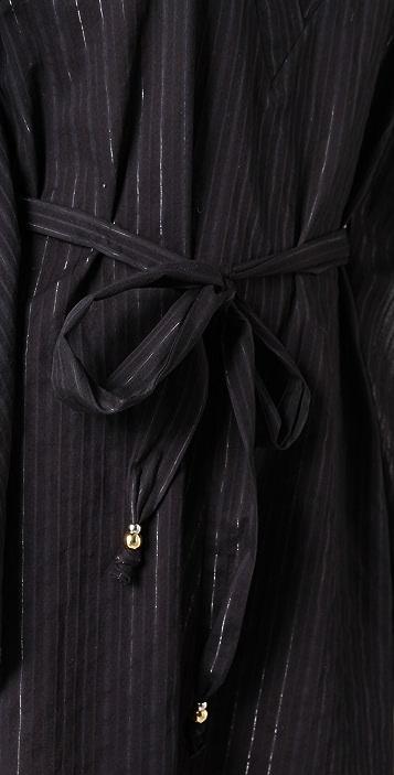 Tibi Dobby Caftan Cover Up Dress