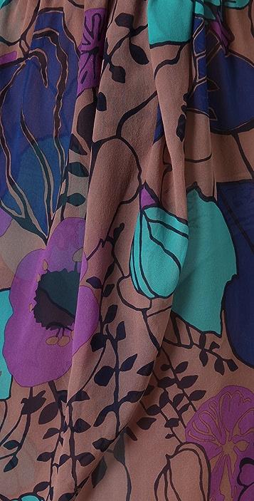 Tibi Giant Kamara Print Strapless Cover Up Dress