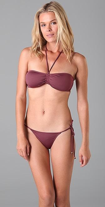 Tibi Shirred Bikini Top