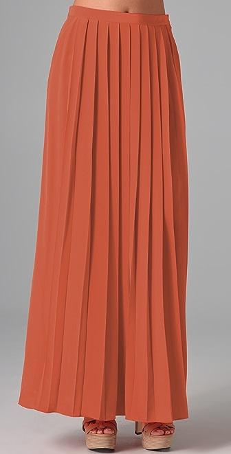 Tibi Pleated Long Skirt