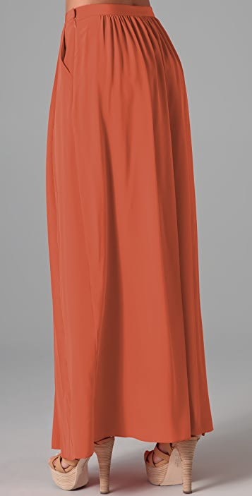 Tibi Pleated Long Skirt