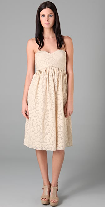 Tibi Petal Strapless Dress