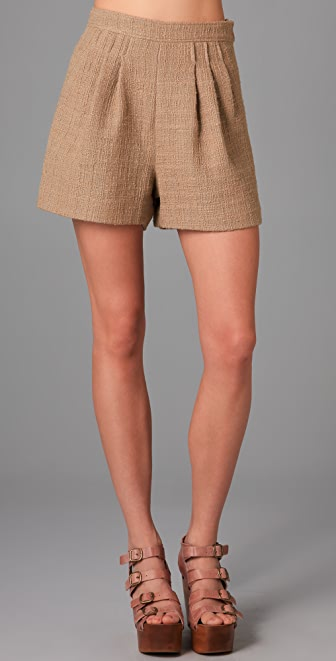Tibi Tweed Shorts
