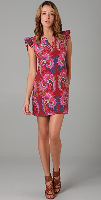 Tibi Isabella Print Shift Dress