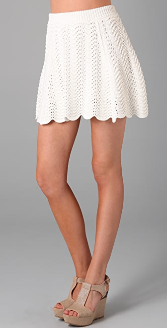 Tibi Crochet Skirt