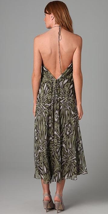 Tibi Victoria Halter Long Dress