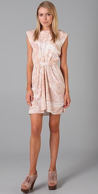 Tibi Marble Print Dress