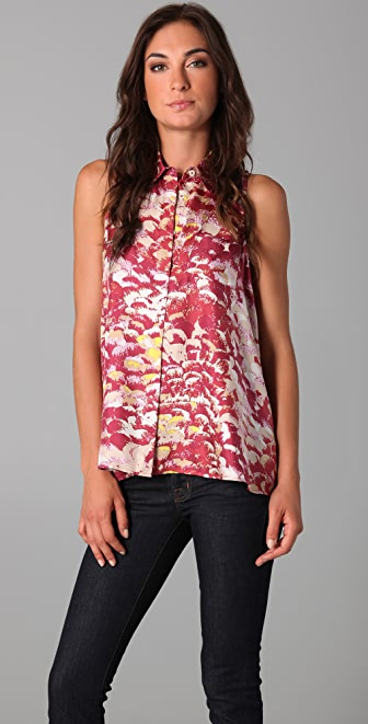 Tibi Adelaide Sleeveless Swing Top