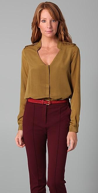 Tibi Button Down Blouse Bodysuit