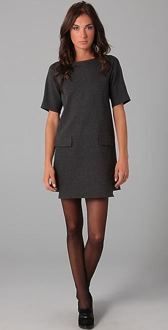 Tibi Short Sleeve Shift Dress | SHOPBOP
