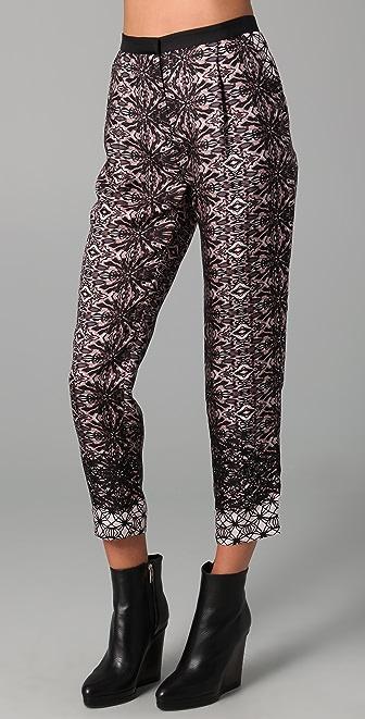 Tibi Cobweb Lace Print Pants
