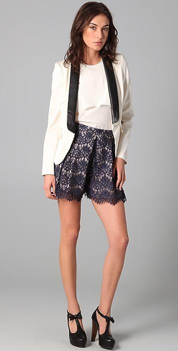 Tibi Swan Lace Shorts