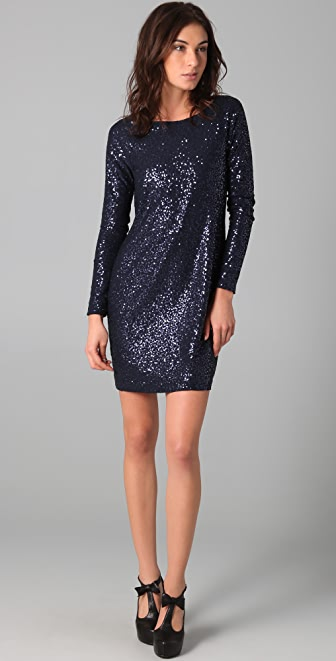 Tibi Sequined Shift Dress