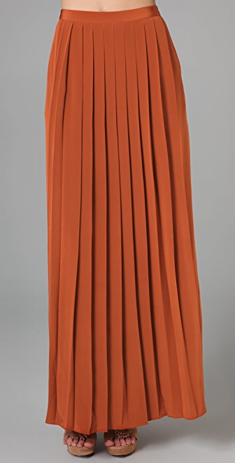 Tibi Long Pleated Skirt | SHOPBOP