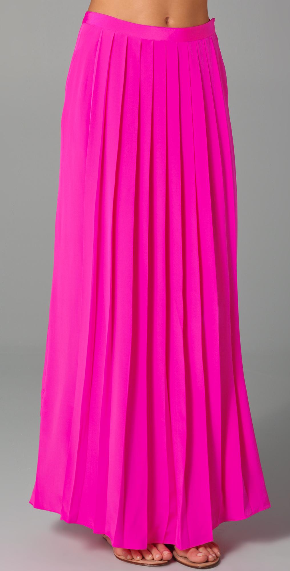 Tibi Long Pleated Skirt | SHOPBOP