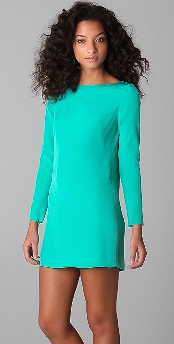 Tibi Long Sleeve Shift Dress