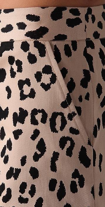 Tibi Cheetah Print Shorts