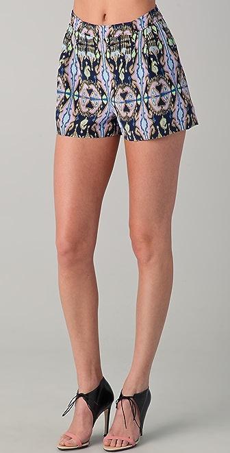 Tibi Layla Ikat Printed Shorts