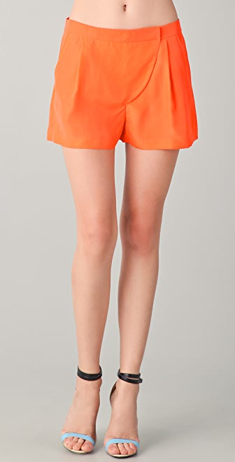 Tibi Solid Tab Front Shorts