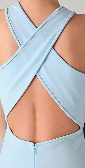 Tibi Crossback Midi Dress