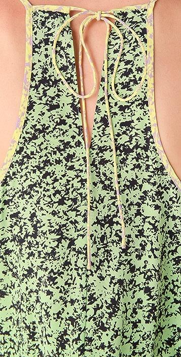 Tibi Clara Colorblock Midi Dress