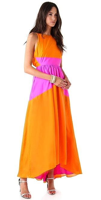 Tibi Featherweight Sandwashed Long Dress