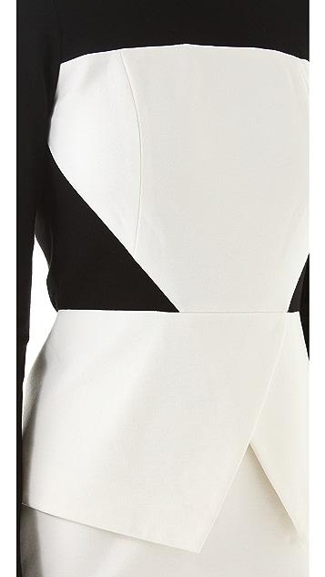 Tibi Long Sleeve Ponte Dress