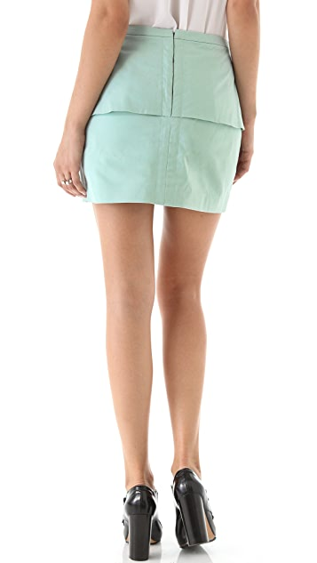 Tibi Sateen Peplum Skirt