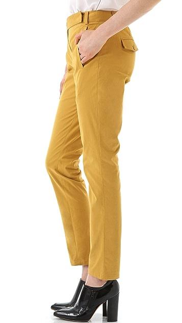 Tibi Sateen Easy Slouch Pants