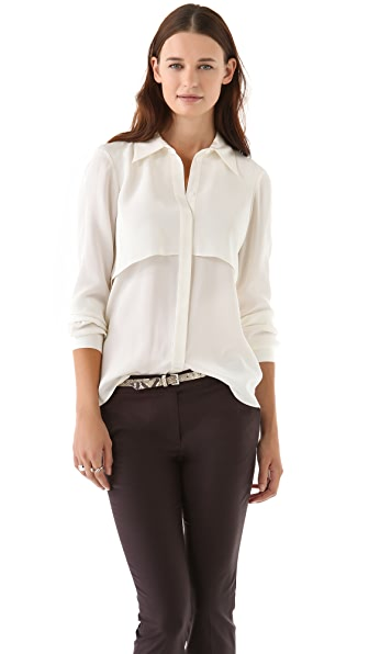 Tibi Drape Back Blouse
