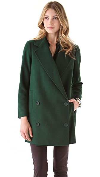 Tibi Long Felted Coat
