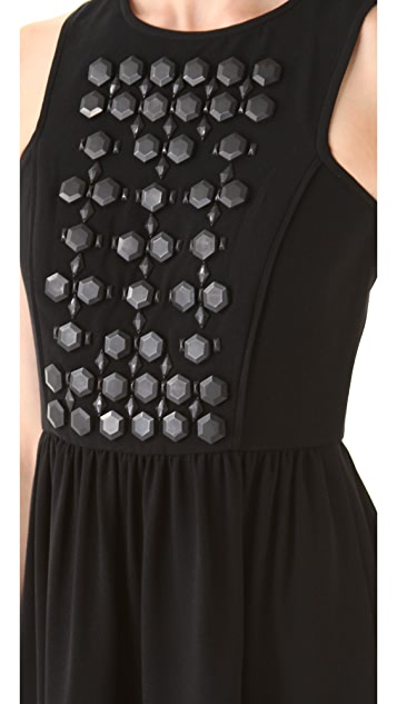 Tibi Cinta Beaded Dress