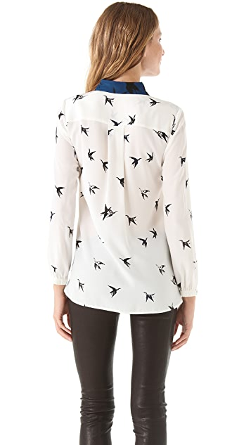 Tibi Paloma Print Shirt