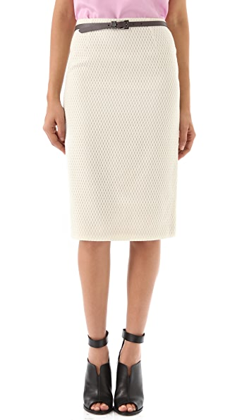 Tibi Tess Jacquard Pencil Skirt